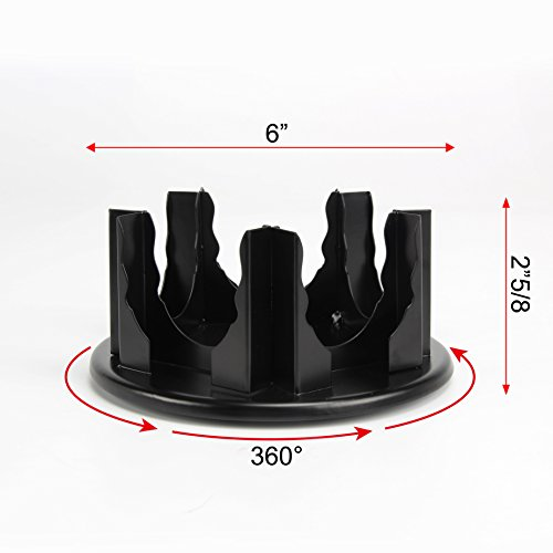 Flagship Coffee Pod Holder Capsules Stand Revolving Holder iron Storage Rack Black 5 Boxes by Flagship (Image #4)