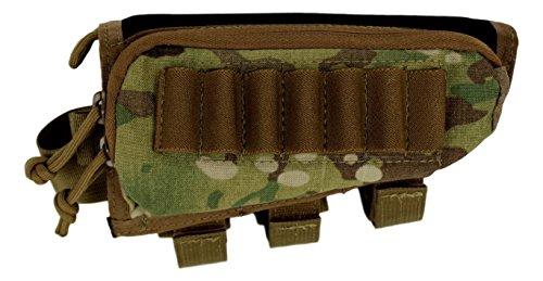 COMBATEX STOCKPACK | 100% USA MADE | Rifle Cheek riser pad | Ammo Holder (MultiCam, Right Hand)