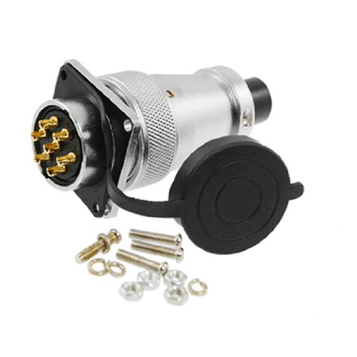 DealMux Waterproof AC 400V 25A 7 Pin Aviation Electrical Deck Connector by DealMux