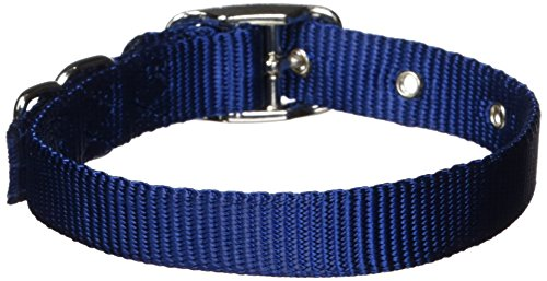 Hamilton 5/8-Inch by 14-Inch Single Thick Nylon Deluxe Dog Collar, Navy Blue