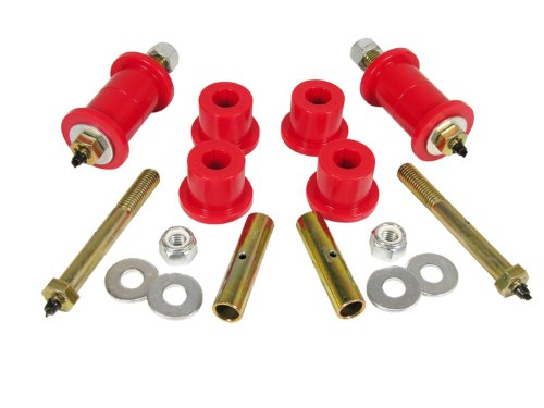 Prothane 1-1017 Red Front and Rear Main Spring Eye Bushing Kit for CJ5, CJ6, CJ7 and YJ