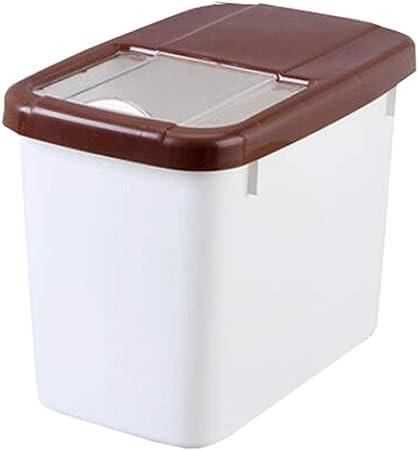 LILINPINGCMX Recipientes Cocina Recipiente de Almacenamiento de Granos Caja de Almacenamiento de arroz Sello de plástico A Prueba de Humedad Multifunción: Amazon.es: Hogar