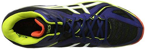 Scarpe Uomo Navy Gel Blu bianco 3 lime Sportive Elite Asics Mt volley FBXxqa