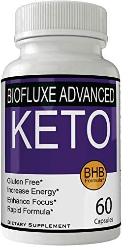 Biofluxe Advanced Keto Pills Weight Loss Supplement, Appetite Suppressant with Ultra Advanced Natural Ketogenic Capsules, 800 mg Fast Formula with BHB Salts Caffeine Ketone Diet Boost Metabolism