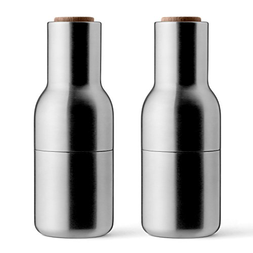 MENU 4418119 Bottle Grinders Salt Pepper Mill, Brushed Steel/Walnut by Menu