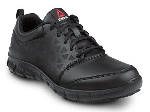 Reebok Men's Slip Resistant Soft Toe Low Athletic (7.5 M) Black