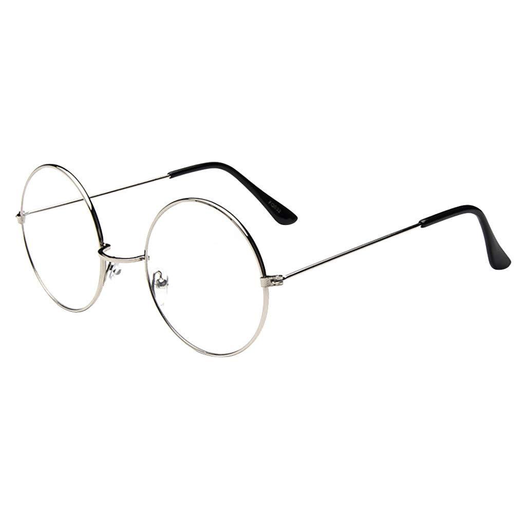 Women/'s OVERSIZED VINTAGE RETRO Style Clear Lens EYE GLASSES Round Fashion Frame