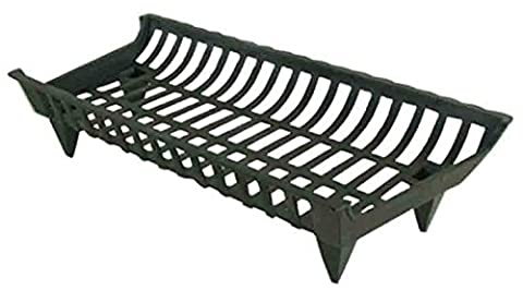 Pleasant Hearth Cast Iron Grate, 27-Inch (Cast Iron Fireplace Grate 27)