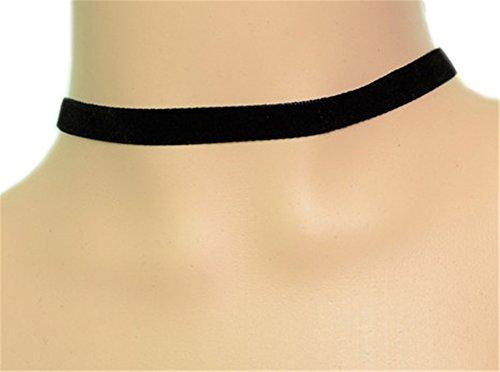 JSDY Women's Vintage Gothic Custom Party Simple Black Velvet Collar Necklaces