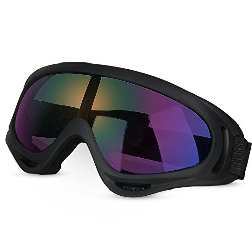 Tactical Goggles, GARDOM Military Eyewear CS Army Glasses Ski Goggles Sport Sun Glasses UV Protection Snowmobile Bicycle Motorcycle Protective Glasses with Adjustable - Snowmobile Sunglasses