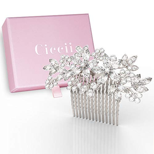 Wedding Hair Comb for Brides, Bridesmaids - Silver Crystal Bridal Hair Accessories for Women