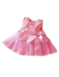 Cute Baby Kids Infants Princess Lace Bowknot Dress
