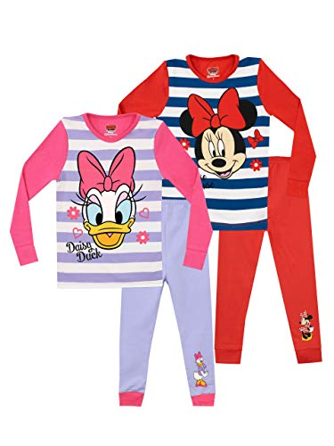 Disney Girls' Minnie and Daisy Pajamas 2 Pack Size 3T Multicolored