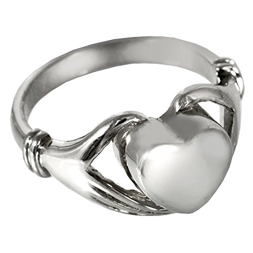 Memorial Gallery 2002p-9 Heart Ring Platinum (Allow 4-5 Weeks) Cremation Pet Jewelry, Size 9