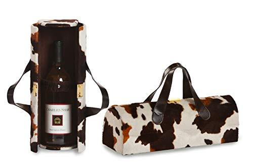 (Picnic Plus Carlotta Clutch Wine Purse Bottle Tote Pony Fur)