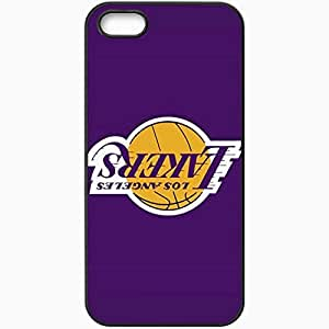 Personalized Case For Iphone 5C Cover Cell phone Skin Nba Los Angeles Lakers Sport Black
