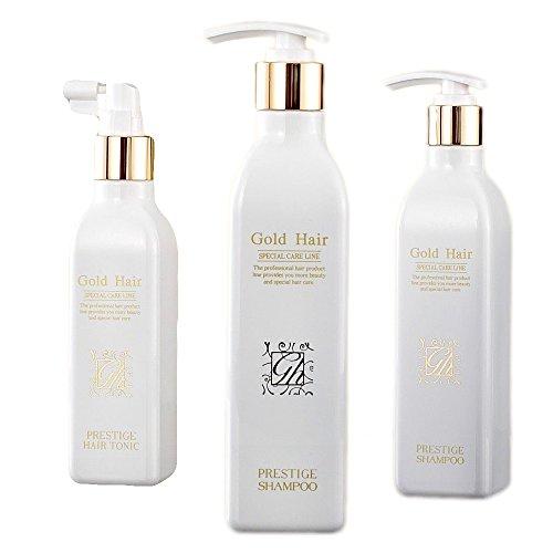 Korean HGS Herbal Hair Loss Fast Regrowth Shampoo 100% Natural Patented Set of 3 by Gold Hair