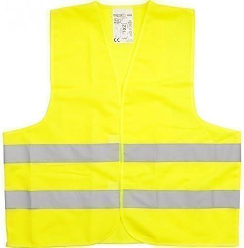 XL Gr/ö/ße:M Farbe:gelb XXXL Warnweste L Sicherheitsweste Pannenweste mit Reflexstreifen EN ISO 20471-2 Farben in S VPE = 3 St/ück XXL M