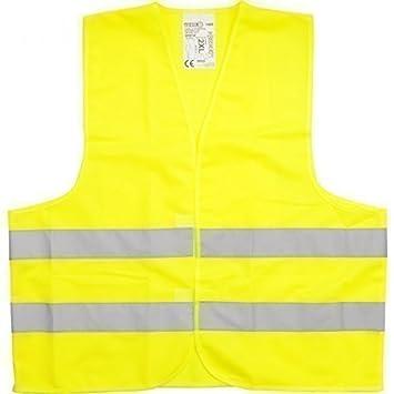 Veiligheidsvesten Warnweste DIN EN 471 GELB Sicherheitsweste Pannenweste Unfallweste Einheitsgröße Veiligheid, markering