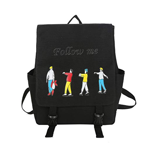 Zlolia Cartoon Print Stylish Girls School Backpack Bookbags College Bags Travel Bag Daypack (Best Places In Us To Travel Alone)