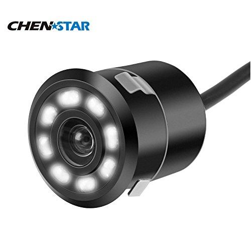 CHENSTAR 8 LED Lights Night Vision HD Backup Camera 170 Degree Wide Viewing Angle Car Rear View Camera Waterproof Shockproof