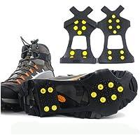 Add-gear Thermoplastic Elastomer and Steel Studs Anti-skid Ice Snow Shoe Spikes Gripper (Black)