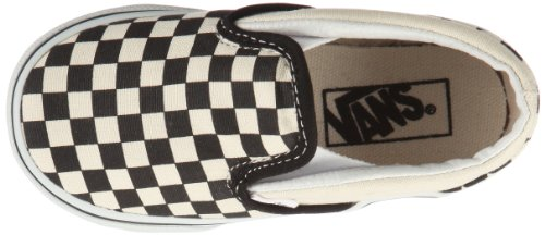 Vans Slip - Zapatillas sin cordones Blanco (black and white checker/white)