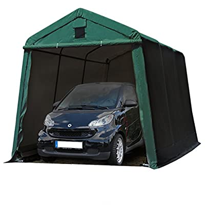 TOOLPORT-24-x-36-m-Heavy-Duty-PVC-Carport-Tent-Portable-Garage-Vehicle-Shed-compact-Storage-Shelter-100-waterproof-in-dark-green