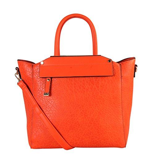 diophy-womens-faux-leather-top-handles-handbag-os-2983-orange
