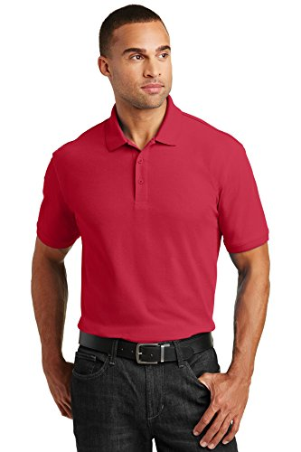 (Port Authority Core Classic Pique Polo. K100 Rich Red M)