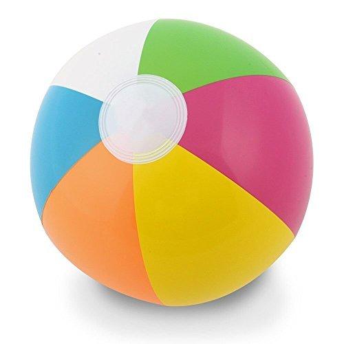 Kangaroo 12 Inflatable Neon, Rainbow Beach Ball, 12-Pack; Pool Toys; Beach Balls