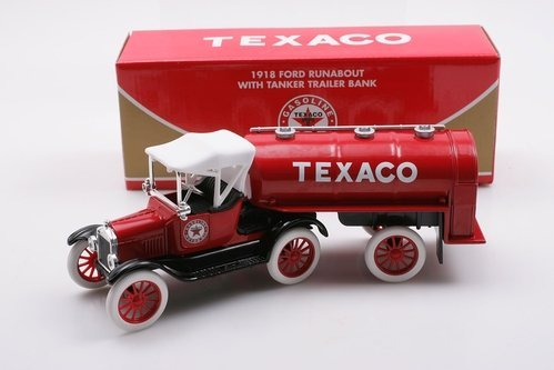 RC2 1/25 Texaco 1918 Ford Runabout w/ Tanker Trailer - Bank