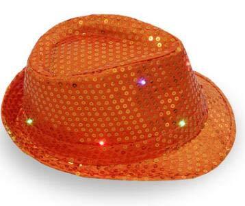 Props Party -Flash Sequins Hat Adults Children Hip Hop Light Up Jazz Cap Hats Dance Club Event Party Festive - Accessory Party Props Prop Party Hats Baby Felt With Sequin Dance Clip Plush C