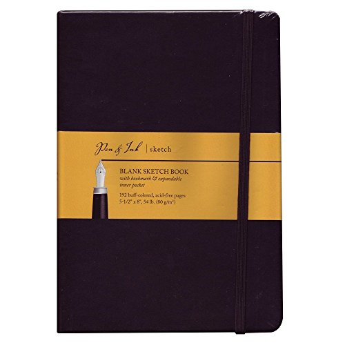 Pen & Ink Notebook 5.5X8 Blank Medium Wt by Art Alternatives