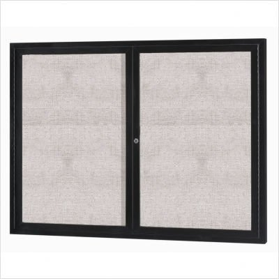 Bronze Indoor/Outdoor Enclosed Aluminum Bulletin Board by Aarco