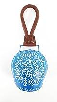 Blue & White Handpainted Metal Cowbell