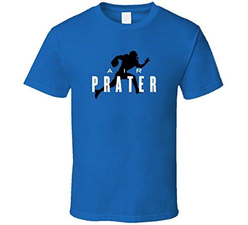 Air Matt Prater Detroit Football Player Fan Parody T Shirt S Royal Blue