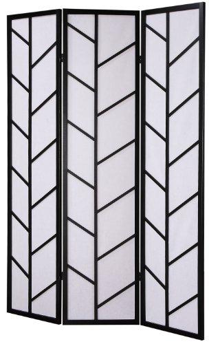 - Roundhill Furniture 3-Panel Climbing Screen Room Divider, Black