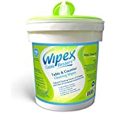 Wipex Table Bussers - Natural Table & Counter Turnover Cleaning Wipes with Vinegar, Propolis, Clove and Cinnamon Oil, 400 Count