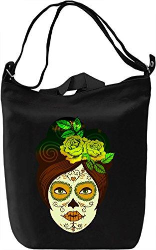 Sugar Skull Make Up Borsa Giornaliera Canvas Canvas Day Bag| 100% Premium Cotton Canvas| DTG Printing|
