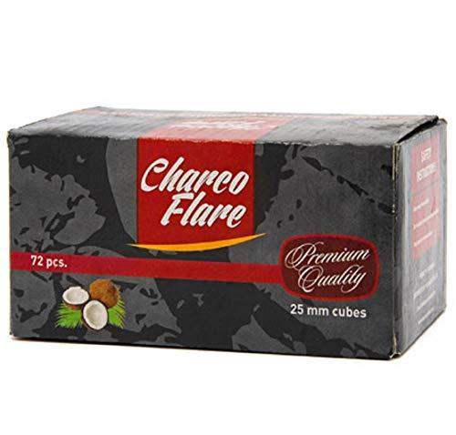 72 Pieces Charco Flare Hookah Natural Coals Hooka Shisha Coconut Charcoal 25mm