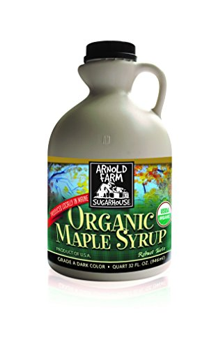 Maine Maple Syrup - Arnold Farm Sugarhouse Plastic Quart Organic Maine Maple Syrup, 32 Ounce (Pack of 6)