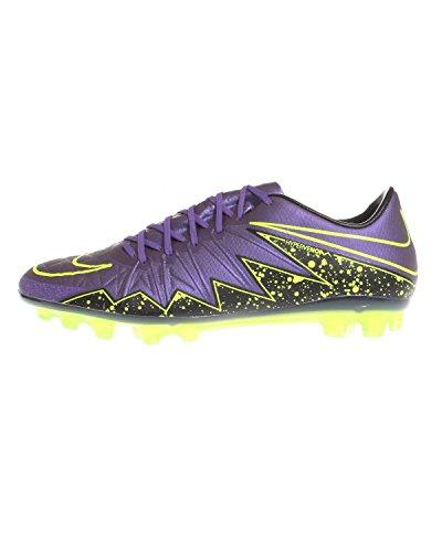 Nike Hypervenom Phinish AG-R, Botas de Fútbol para Hombre Morado / Negro / Verde (Hyper Grape/Hypr Grape-Blk-Vlt)