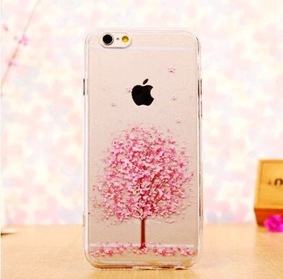 iPhone 8 Plus Case/iPhone 7 Plus Case(5.5inch),Blingy's Flower Pattern Series Transparent Clear Soft TPU Protective Rubber Case for iPhone 8 Plus/iPhone 7 Plus (Cherry Blossoms ()