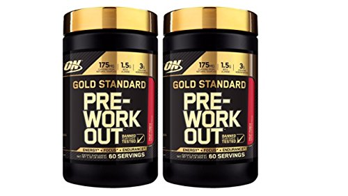 Optimum Nutrition Gold Standard Pre-Workout Supplement Fruit Punch (Pack of 2)