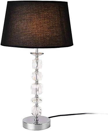 [lux.pro] Lampada da tavolo – lampada da comodino E14 nero lampada da tavolo altezza 30,5 cm design salotto