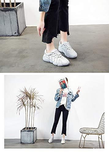 Zhijinli 5size Blancas Zapatos Zapatillas 5 Para A Los De Llevar 7 Individuales Joker Tamaño Zapatos 6 Ayudar Mujer Bajos qUrFwtU