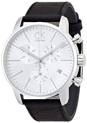 Calvin Klein K2G271C6 City Silver Black Chronograph Watch