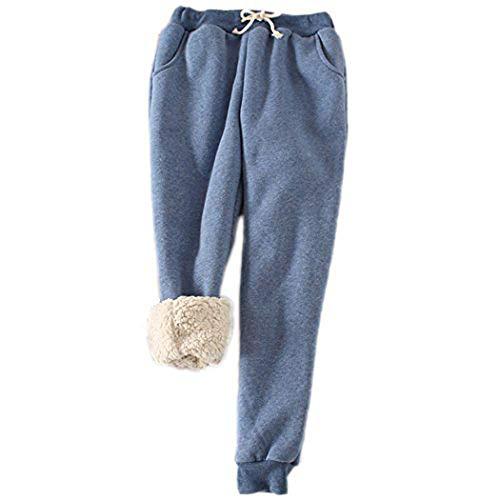 Women Winter Sweatpants Fleece Sport Pants Casual Lined Harem/_Trouser Drawstring
