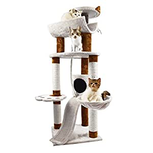 "Favorite 57"" H 6-Tier Multi-function Condo Cat Activity Tree"